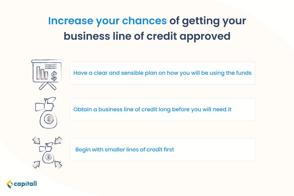 Infographic on how to increase your chances of getting a business line of credit